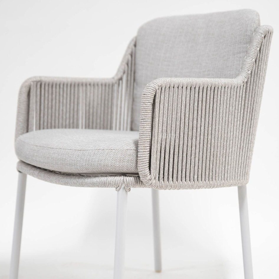 Bernini 0000 213729 Bernini dining chair frozen rope detail 08