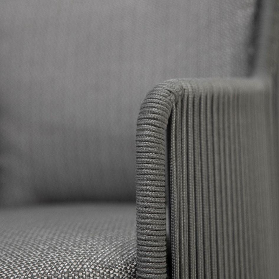 Bernini 0003 213728 Bernini dining chair platinum rope detail 015