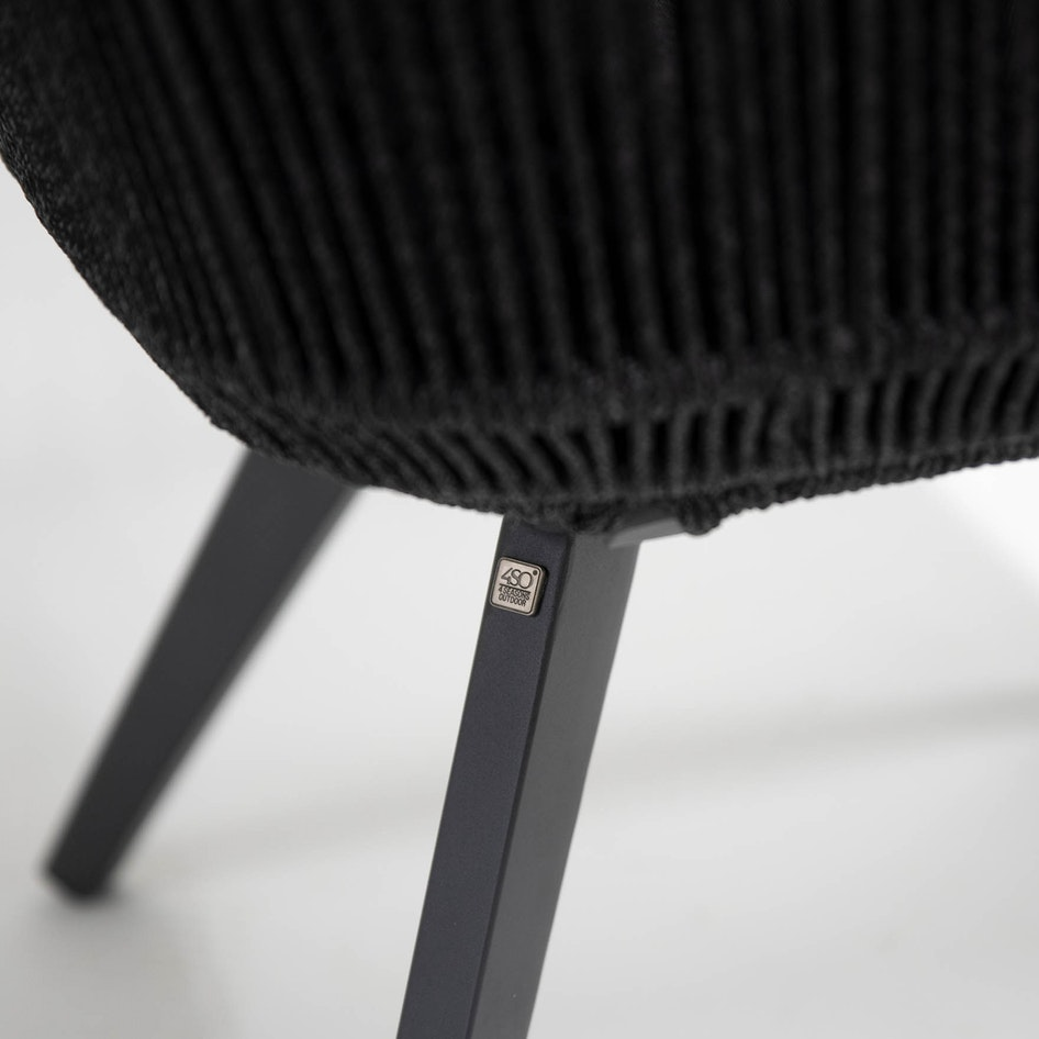 Flores 0001 213730 Flores dining chair anthracite rope alu frame detail 015